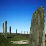 Círculo de pedras em Orkney, Escócia