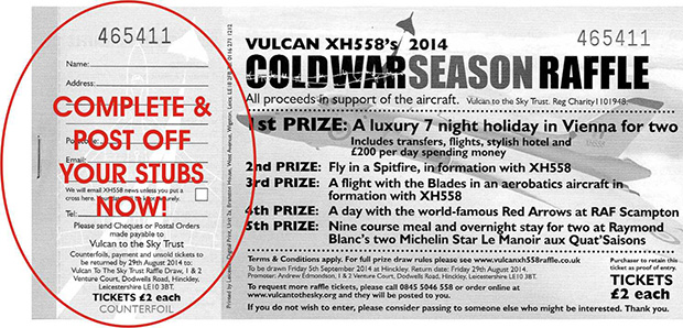 Cold war raffle ticket
