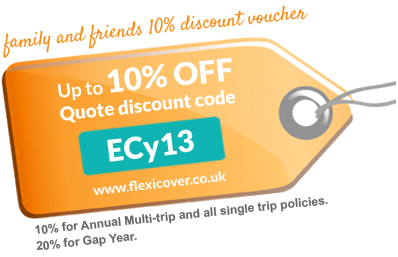 Travel Insurance Voucher – up to 10% off!