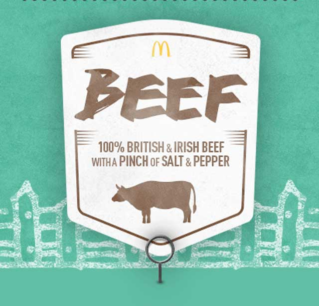 BEEF 100% British & Irish Beef with a pinch of salt and pepper
