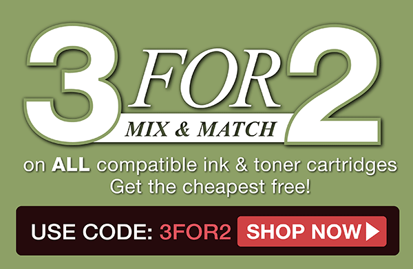 3 for 2 mix and match in selected printer inks
