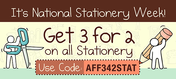 3 for 2 on stationery