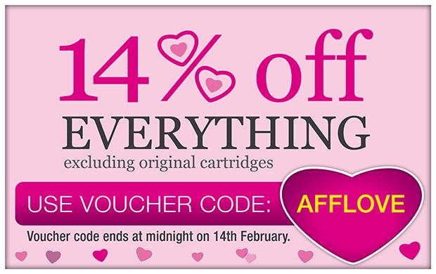 Valentines voucher code ends midnight Sunday