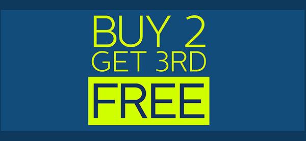 Buy 2 get 3rd free