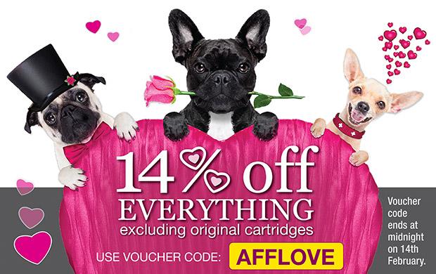 Valentines voucher code