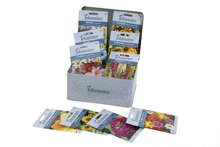 Johnsons Flower Seed Tin